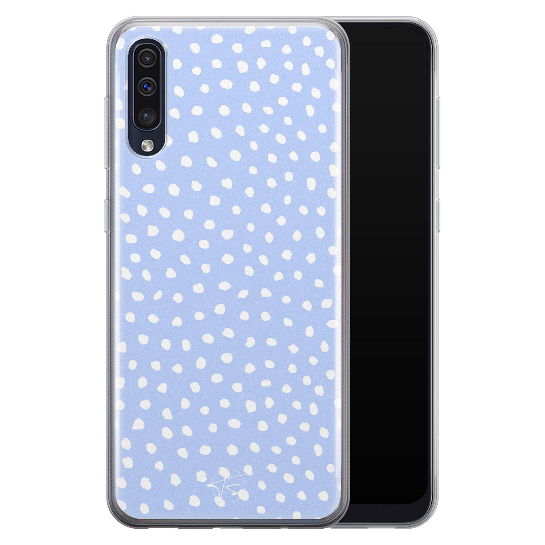 Telefoonhoesje Store Samsung Galaxy A50 siliconen hoesje - Purple dots