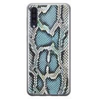 ELLECHIQ Samsung Galaxy A50 siliconen hoesje - Baby Snake blue
