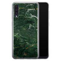 ELLECHIQ Samsung Galaxy A50 siliconen hoesje - Marble jade green