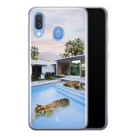 ELLECHIQ Samsung Galaxy A40 siliconen hoesje - Tiger pool