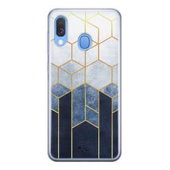 Telefoonhoesje Store Samsung Galaxy A40 siliconen hoesje - Geometrisch fade art