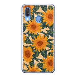 Telefoonhoesje Store Samsung Galaxy A40 siliconen hoesje - Zonnebloemen