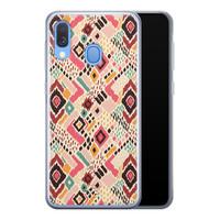 Telefoonhoesje Store Samsung Galaxy A40 siliconen hoesje - Boho vibes
