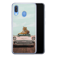 Telefoonhoesje Store Samsung Galaxy A40 siliconen hoesje - Chill tijger
