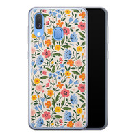 Telefoonhoesje Store Samsung Galaxy A40 siliconen hoesje - Romantische bloemen