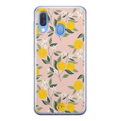 Telefoonhoesje Store Samsung Galaxy A40 siliconen hoesje - Citroenen
