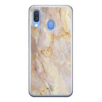 ELLECHIQ Samsung Galaxy A40 siliconen hoesje - Stay Golden Marble