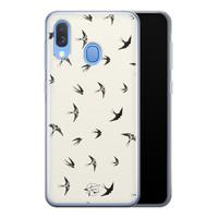 Telefoonhoesje Store Samsung Galaxy A40 siliconen hoesje - Freedom birds