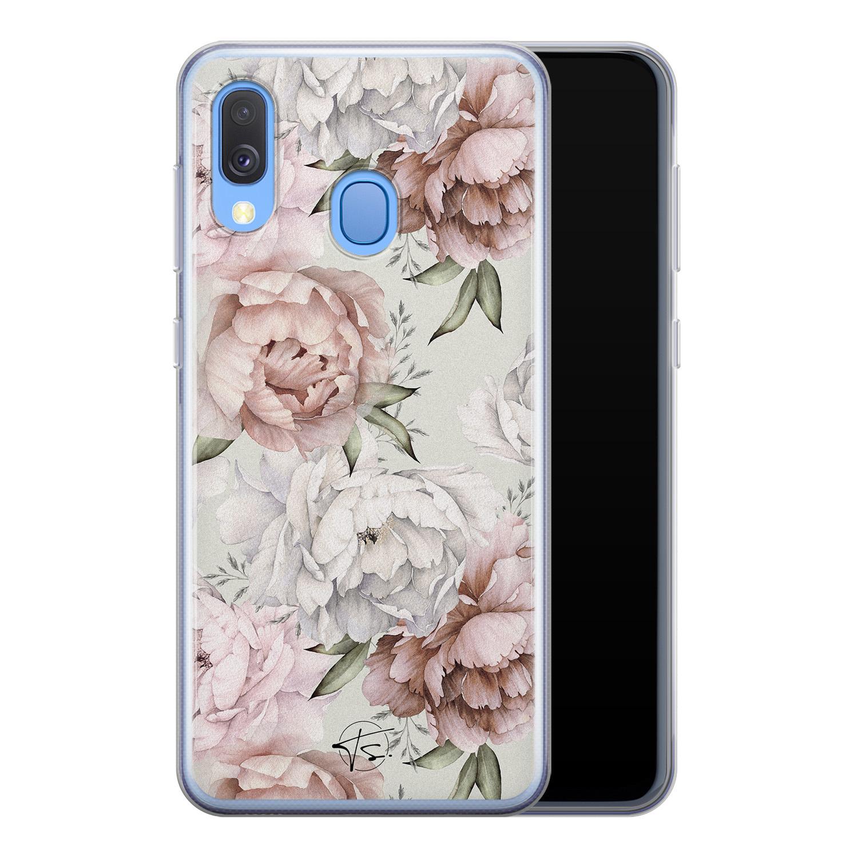 Telefoonhoesje Store Samsung Galaxy A40 siliconen hoesje - Classy flowers