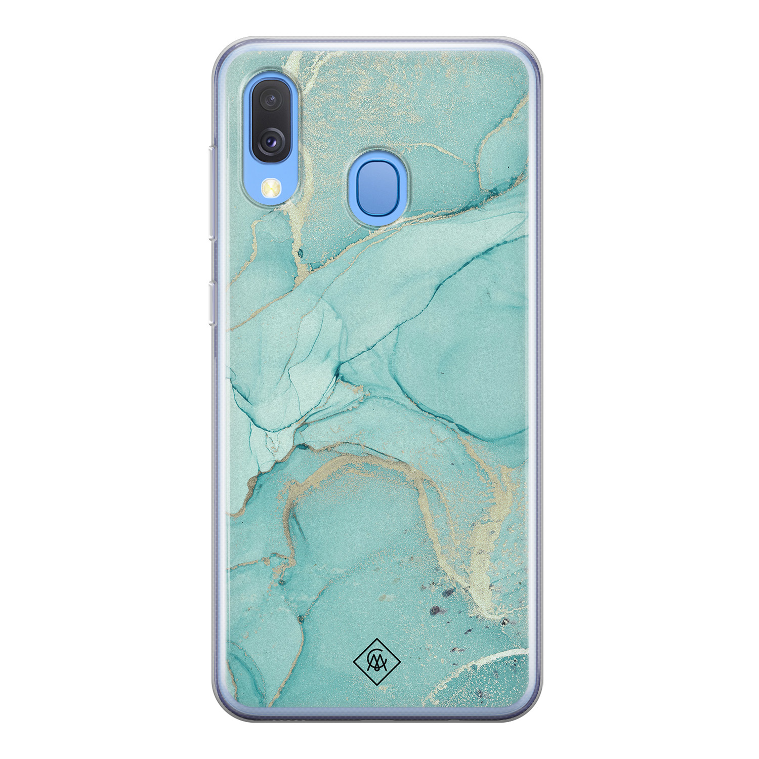 Casimoda Samsung Galaxy A40 siliconen hoesje - Touch of mint