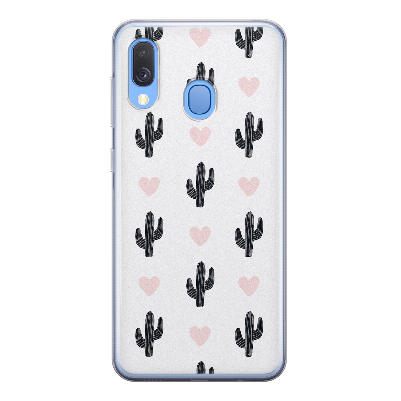 Leuke Telefoonhoesjes Samsung Galaxy A40 siliconen hoesje - Cactus love