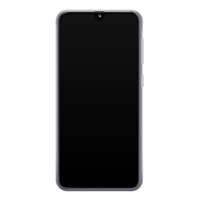 Leuke Telefoonhoesjes Samsung Galaxy A40 siliconen hoesje - Luipaard flower print
