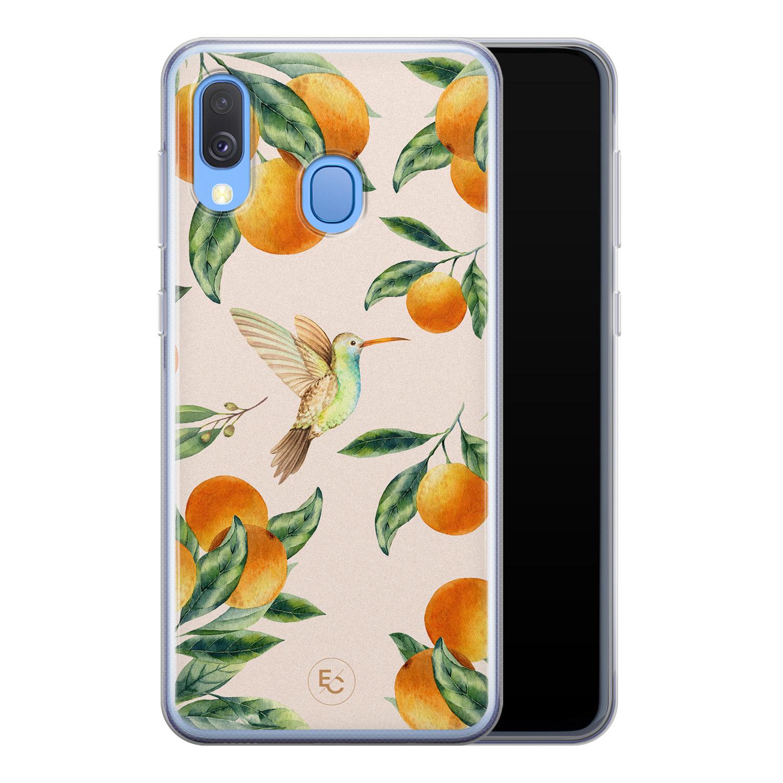ELLECHIQ Samsung Galaxy A40 siliconen hoesje - Tropical Lemonade