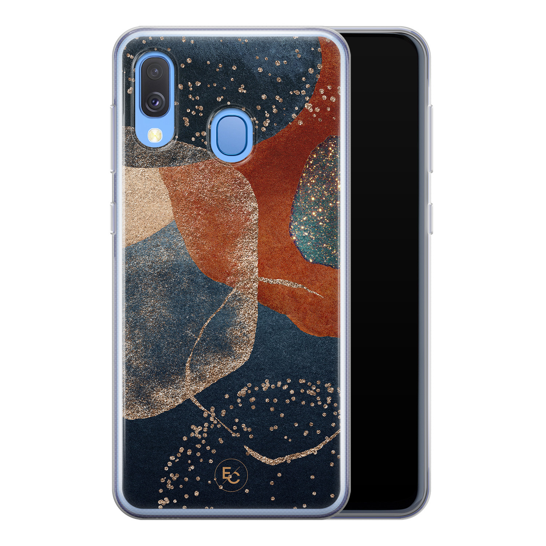 ELLECHIQ Samsung Galaxy A40 siliconen hoesje - Abstract Terracotta