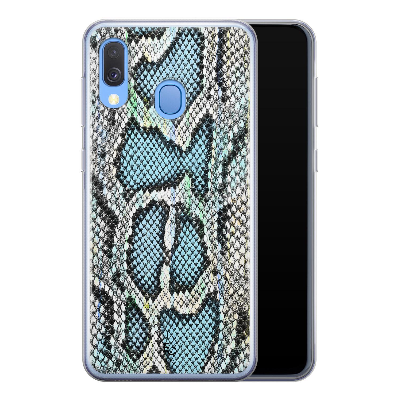 ELLECHIQ Samsung Galaxy A40 siliconen hoesje - Baby Snake blue