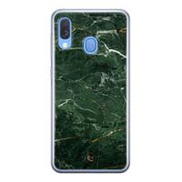 ELLECHIQ Samsung Galaxy A40 siliconen hoesje - Marble jade green