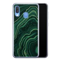 Telefoonhoesje Store Samsung Galaxy A40 siliconen hoesje - Agate groen