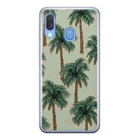 Telefoonhoesje Store Samsung Galaxy A40 siliconen hoesje - Palmbomen