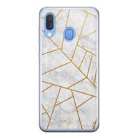 Telefoonhoesje Store Samsung Galaxy A40 siliconen hoesje - Geometrisch marmer