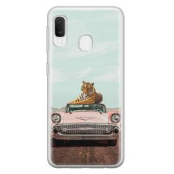 Telefoonhoesje Store Samsung Galaxy A20e siliconen hoesje - Chill tijger