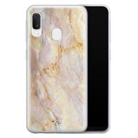 ELLECHIQ Samsung Galaxy A20e siliconen hoesje - Stay Golden Marble