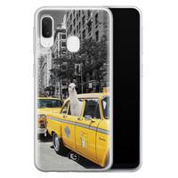 ELLECHIQ Samsung Galaxy A20e siliconen hoesje - Lama in taxi