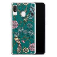 Telefoonhoesje Store Samsung Galaxy A20e siliconen hoesje - Bloomy birds