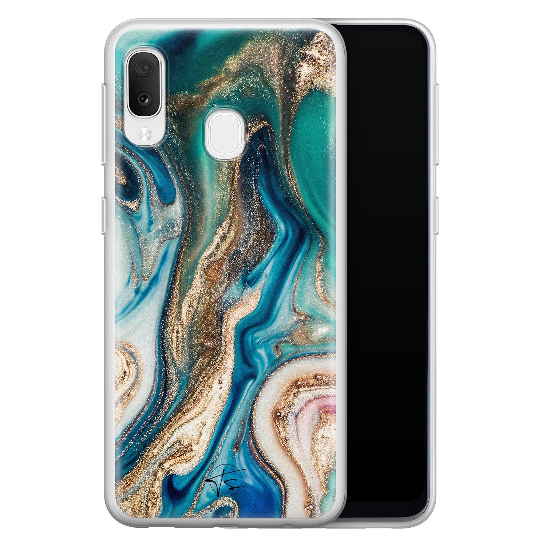 Telefoonhoesje Store Samsung Galaxy A20e siliconen hoesje - Magic marble