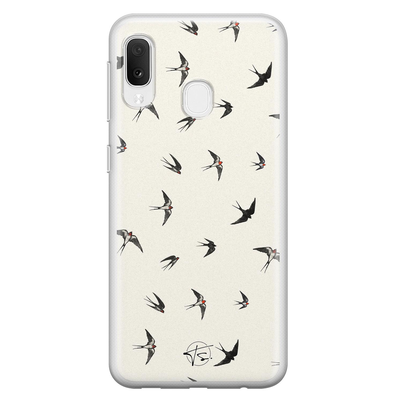 Telefoonhoesje Store Samsung Galaxy A20e siliconen hoesje - Freedom birds