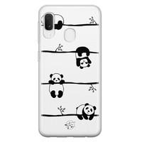 Telefoonhoesje Store Samsung Galaxy A20e siliconen hoesje - Panda