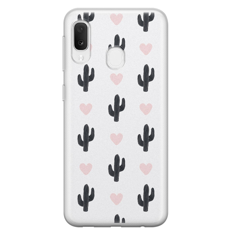 Leuke Telefoonhoesjes Samsung Galaxy A20e siliconen hoesje - Cactus love