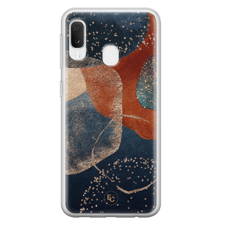 ELLECHIQ Samsung Galaxy A20e siliconen hoesje - Abstract Terracotta