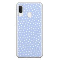 Telefoonhoesje Store Samsung Galaxy A20e siliconen hoesje - Purple dots