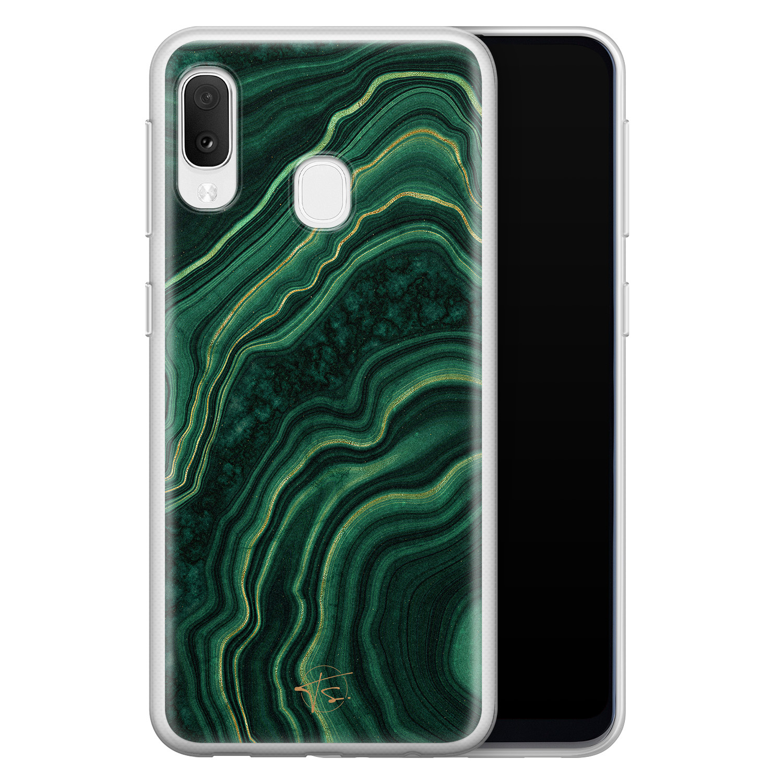 Telefoonhoesje Store Samsung Galaxy A20e siliconen hoesje - Agate groen