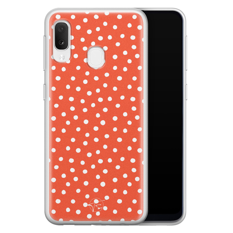Telefoonhoesje Store Samsung Galaxy A20e siliconen hoesje - Orange dots