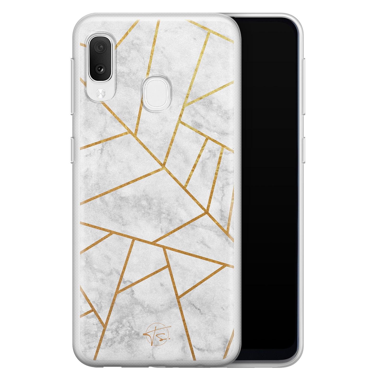Telefoonhoesje Store Samsung Galaxy A20e siliconen hoesje - Geometrisch marmer
