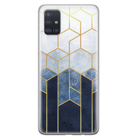 Telefoonhoesje Store Samsung Galaxy A51 siliconen hoesje - Geometrisch fade art