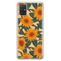 Telefoonhoesje Store Samsung Galaxy A51 siliconen hoesje - Zonnebloemen