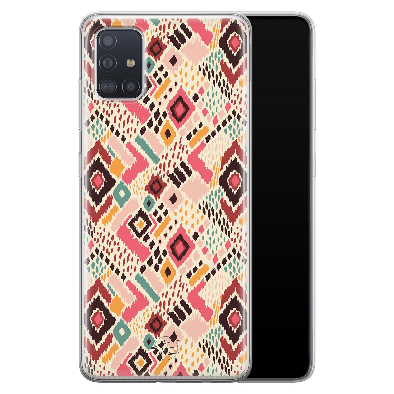 Telefoonhoesje Store Samsung Galaxy A51 siliconen hoesje - Boho vibes