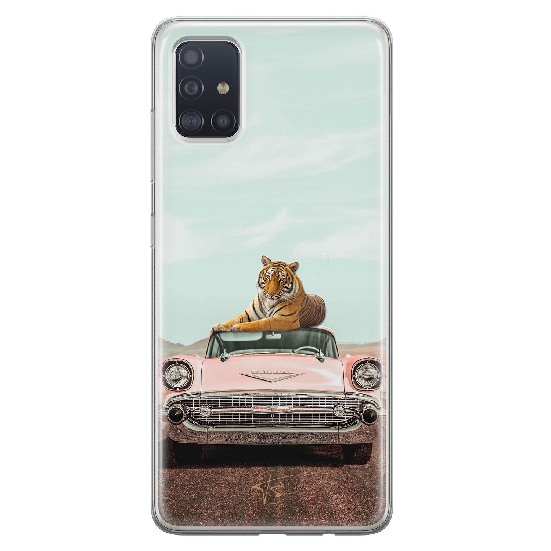 Telefoonhoesje Store Samsung Galaxy A51 siliconen hoesje - Chill tijger