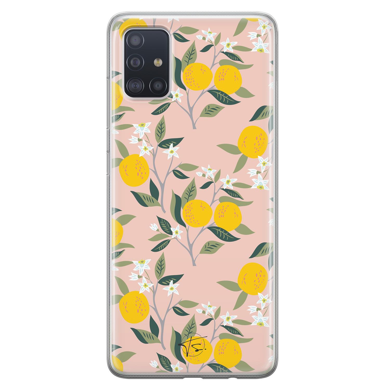 Telefoonhoesje Store Samsung Galaxy A51 siliconen hoesje - Citroenen