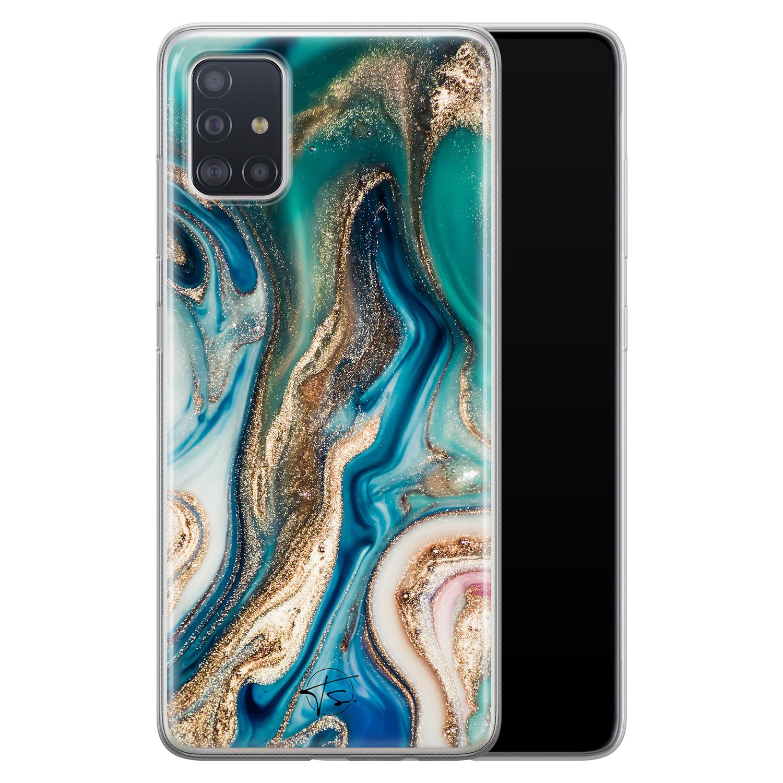 Telefoonhoesje Store Samsung Galaxy A51 siliconen hoesje - Magic marble