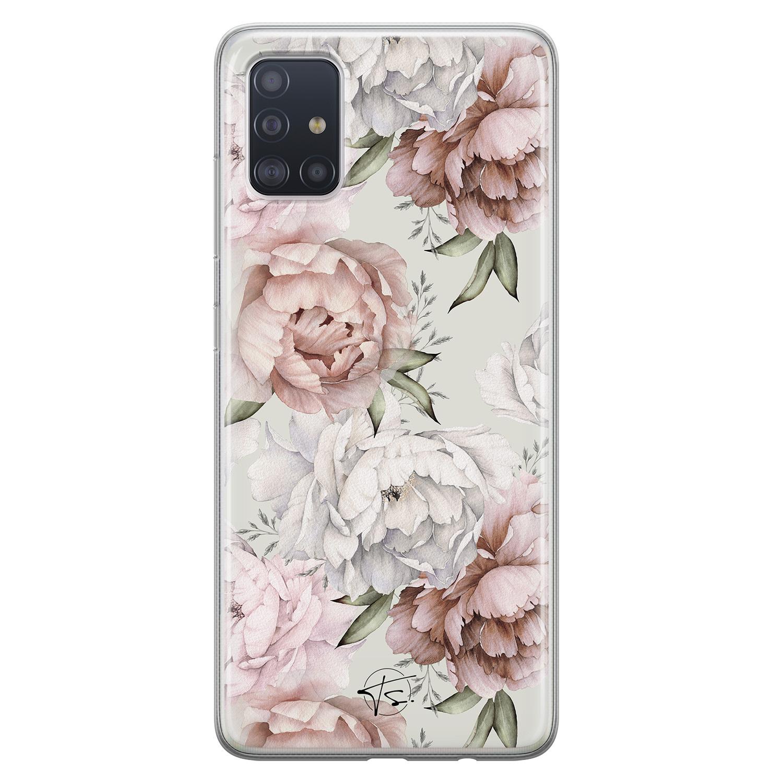 Telefoonhoesje Store Samsung Galaxy A51 siliconen hoesje - Classy flowers