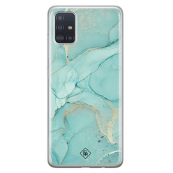 Casimoda Samsung Galaxy A51 siliconen hoesje - Touch of mint