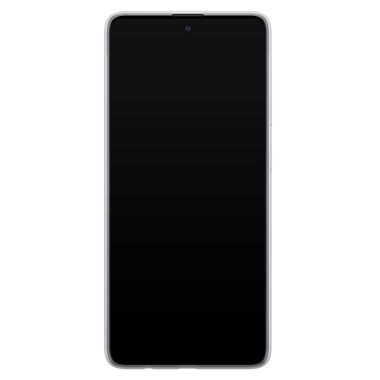 Leuke Telefoonhoesjes Samsung Galaxy A51 siliconen hoesje - Abstract gezicht lijnen