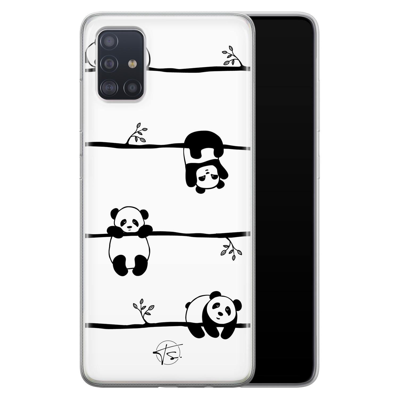 Telefoonhoesje Store Samsung Galaxy A51 siliconen hoesje - Panda
