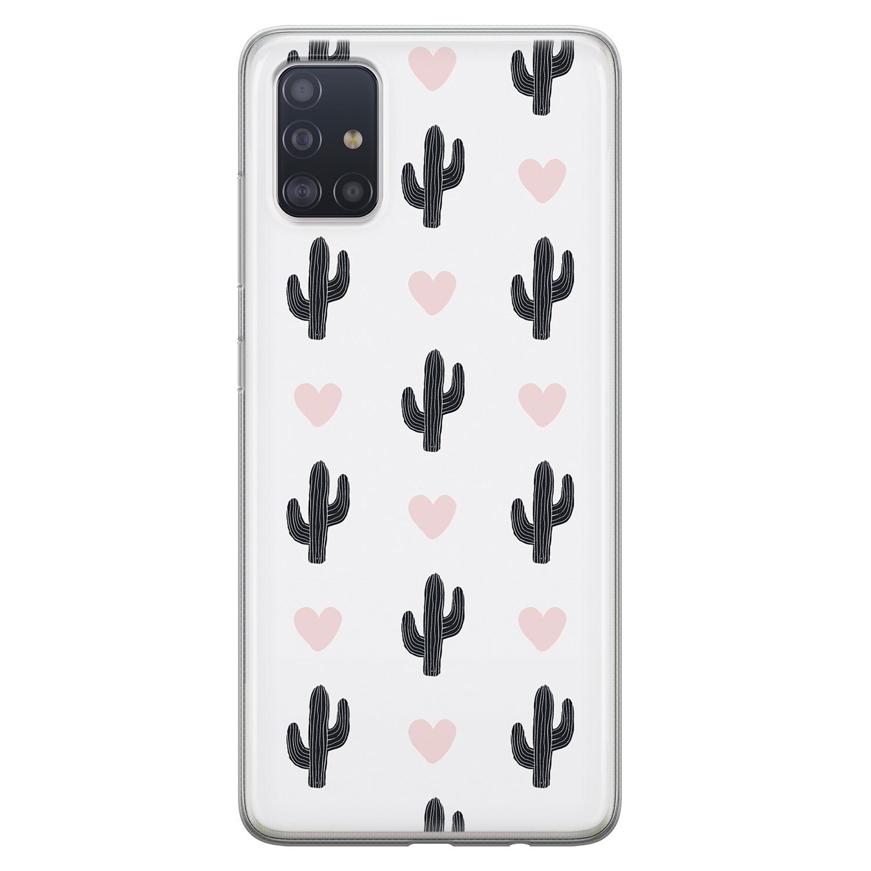 Leuke Telefoonhoesjes Samsung Galaxy A51 siliconen hoesje - Cactus love