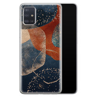 ELLECHIQ Samsung Galaxy A51 siliconen hoesje - Abstract Terracotta