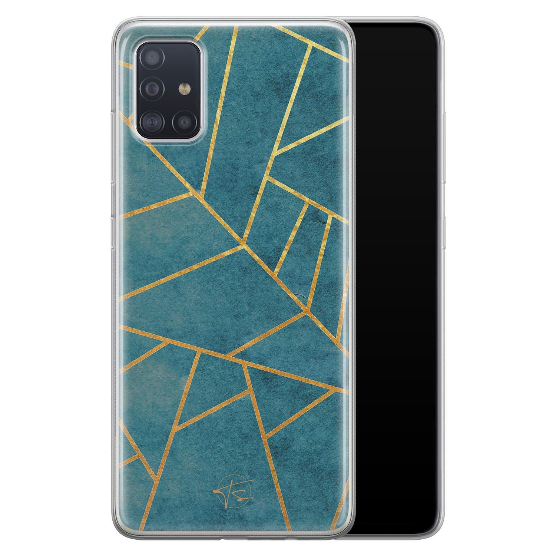 Telefoonhoesje Store Samsung Galaxy A51 siliconen hoesje - Abstract blauw