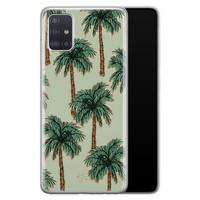 Telefoonhoesje Store Samsung Galaxy A51 siliconen hoesje - Palmbomen